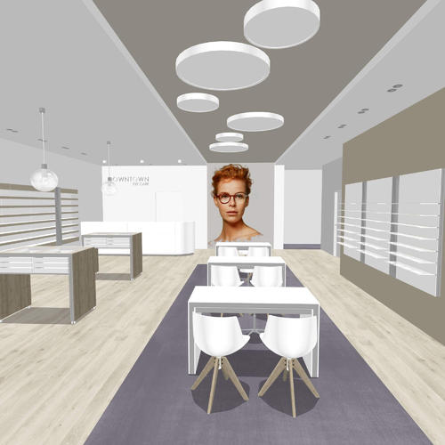 Classical optical store design - basic 3D rendering