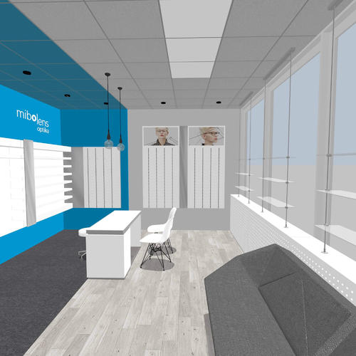 Clean optical store design - basic 3D rendering