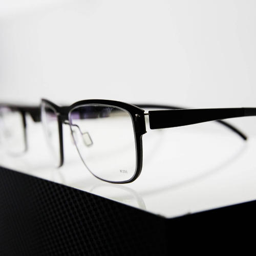 Quadro - black wall eyeglasses shelf with integrated white LED