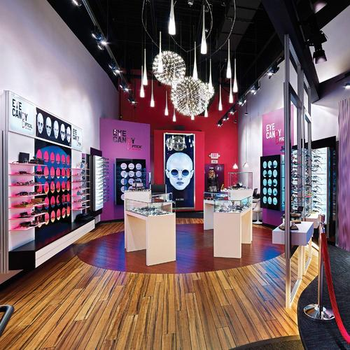 Cutting edge dispensary design for a chain of US optical stores.